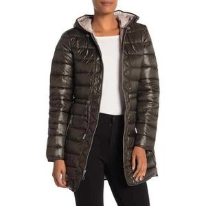 KENNETH COLE S Bone Hooded Packable Puffer Coat